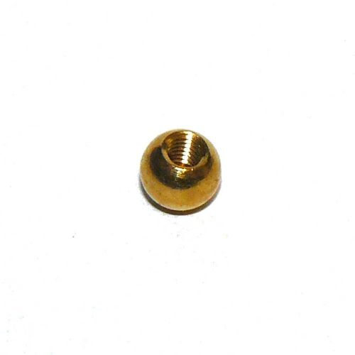 Solid Brass Approx. 9.75mm Diameter Ball Finial 5mm thread